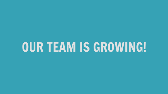 Our Team Is Growing!